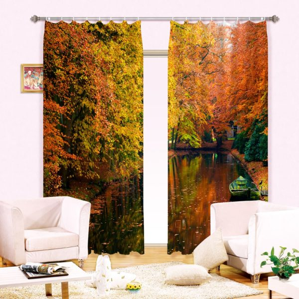 6amazon zpsppnbhp3p 600x600 - Vibrant Nature Themed Curtain set
