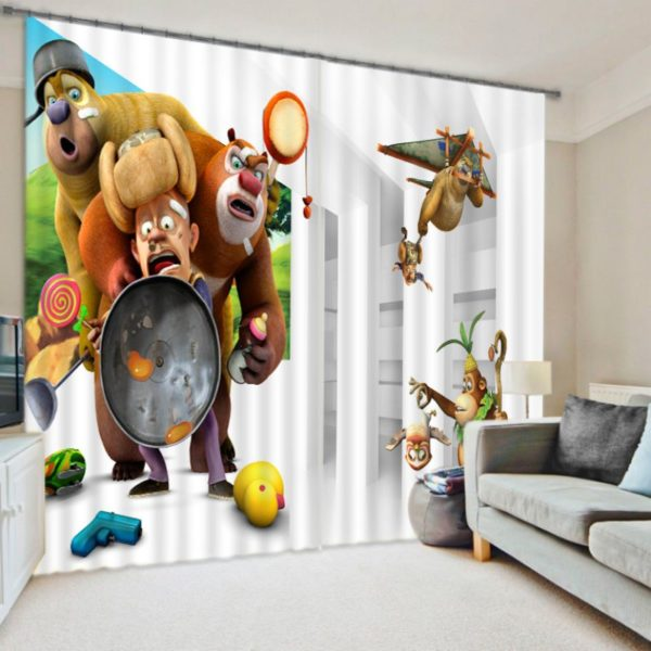 Luxurious Cartoon Themed Curtain Set