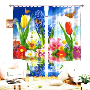 70amazon zpsbwxr5tcs 300x300 - Enchanting Flowers Curtain Set