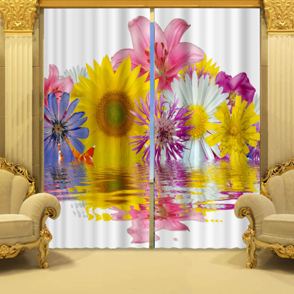71 zpspzygdnmx 600x600 - Curtain Set With Flower Motif