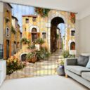 Fantastic Street Picture Curtain Set