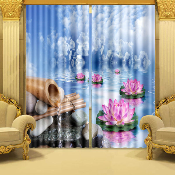 72 zpstipi7pjd 600x600 - Picture Curtain Set With Lotus Theme