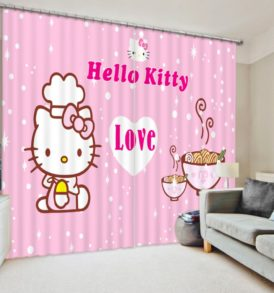 Attractive Hello Kitty Curtain Set