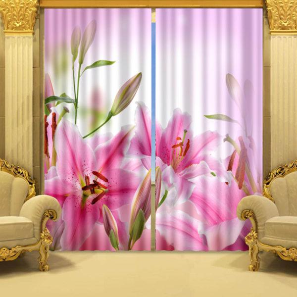 73 zpsxlsqjzya 600x600 - Light Pink And White Flower Curtain Set