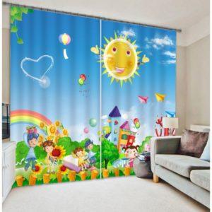 cute Curtain set With Cartoon Theme