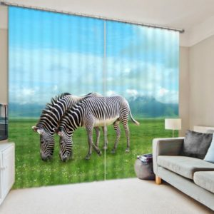 Royal Zebra Curtain Set