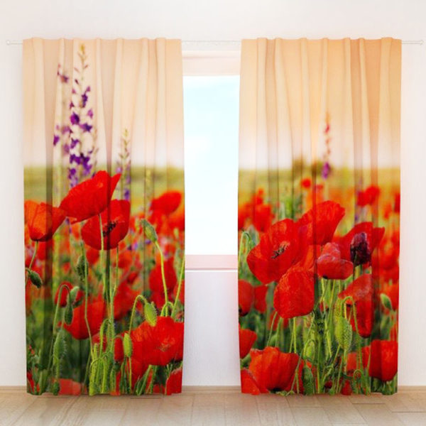 75 zpsrcy41wrb 600x600 - Lovely Beige And Red Flower Themed Curtain Set