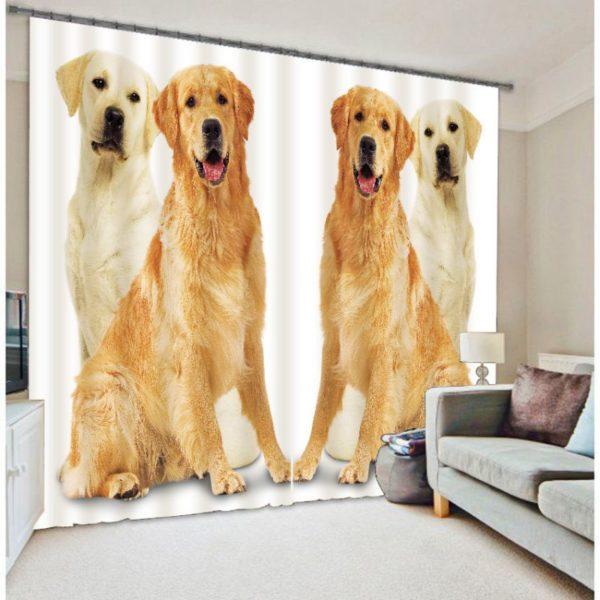 Adorable Dog Curtain Set