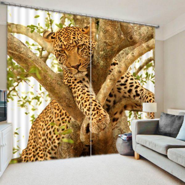 Majestic Jaguar Picture Curtain Set