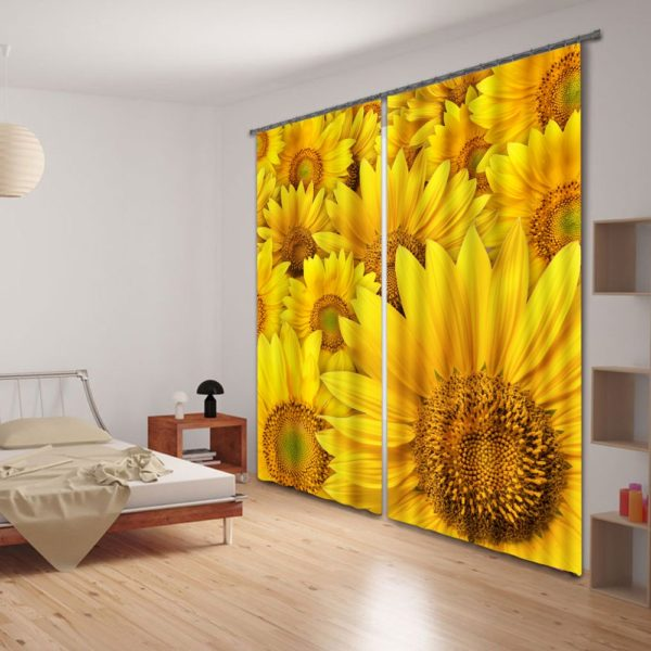 79amazon zps0lp0wpmg 600x600 - Curtain Set With Sunflower Theme