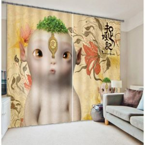 Alien Printed Curtain Set