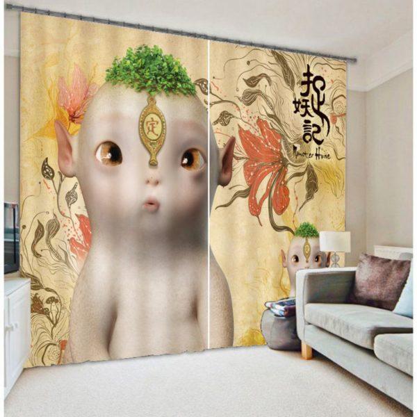Alien Printed Curtain Set