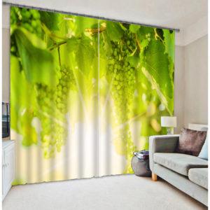 Pretty Grapes Picture Curtain Set