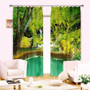 Pretty Picture Curtain Set In Nature Theme