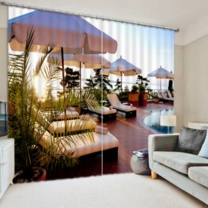 Romantic Beach Themed Curtain Set