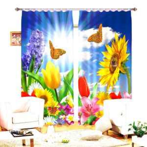 81amazon zpsrh6fdatf 300x300 - Curtain Set In Yellow And Blue