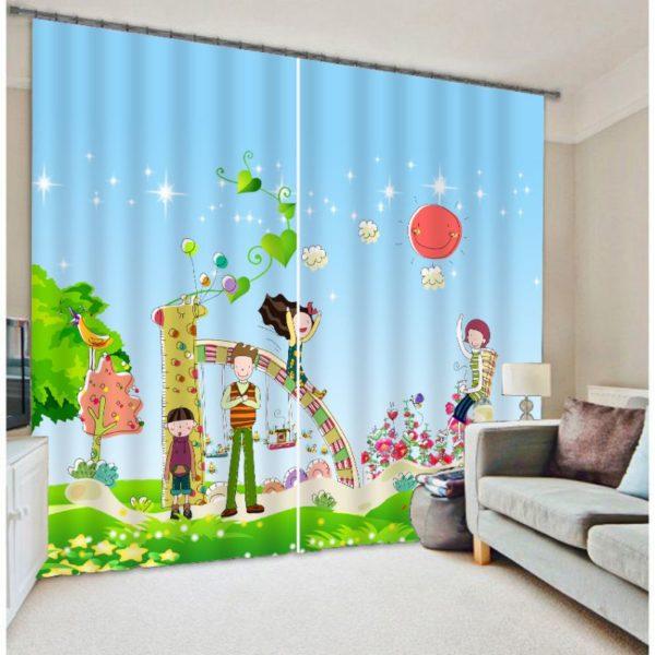 Attractive Playground Curtain Set