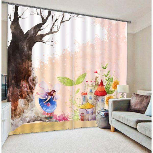 Adorable Fairy Picture Curtain Set