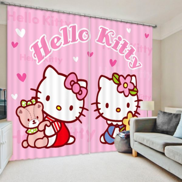 Vibrant Hello Kitty Curtain Set