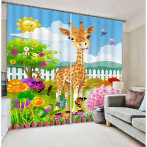 Royal Baby Giraffe Curtain Set