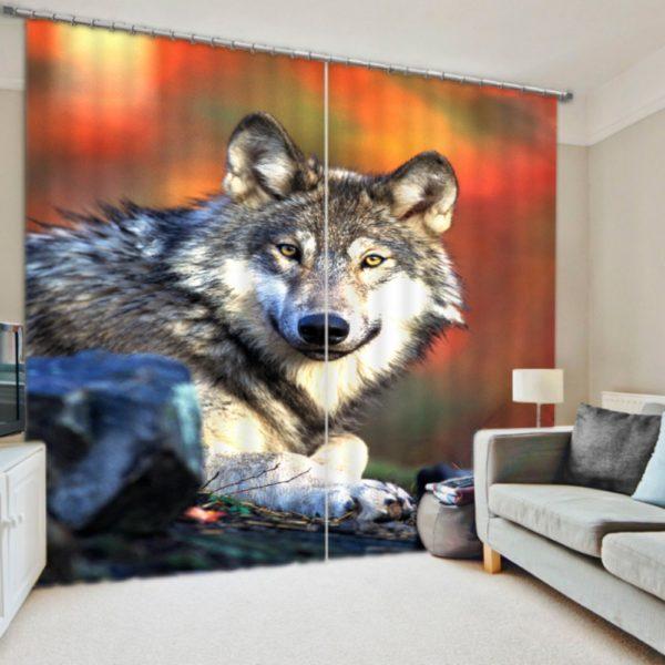 Fox Print Curtain Set