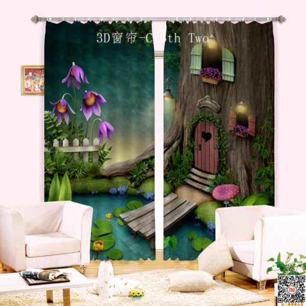 Fairy Themed Light Green Curtain Set