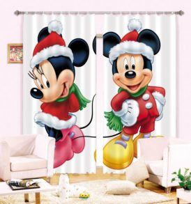 Sweet Mickey And Minnie Picture Curtain Set