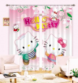 Chic Hello Kitty Curtain Set
