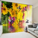 Brilliant Flower And Buttefly Curtain Set