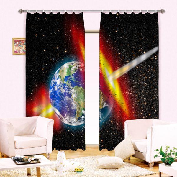 87amazon zps1vwmbcvp 600x600 - Magical Earth Print Curtain Set