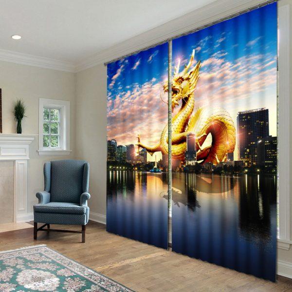 88amazon zps5g9zqe1h 600x600 - Fabulous Dragon Themed Curtain Set