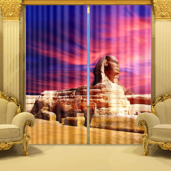 Sphinx Themed Curtain Set