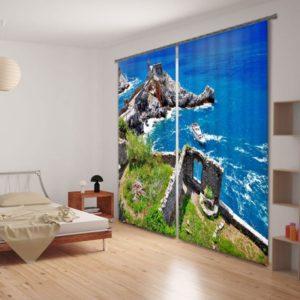 Delightful Beach Themed Curtain Set