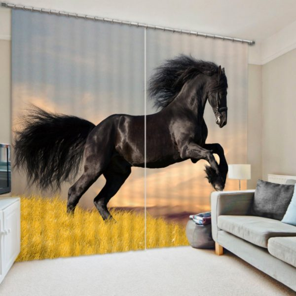 Majestic Horse Picture Curtain set