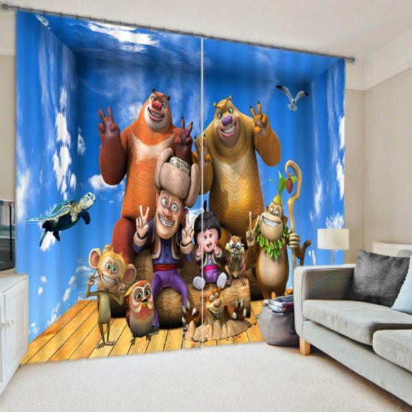 Lovely Cartoon Curtain set