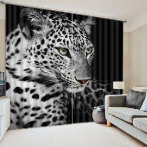 Visually Appealing jaguar Themed Curtain Set