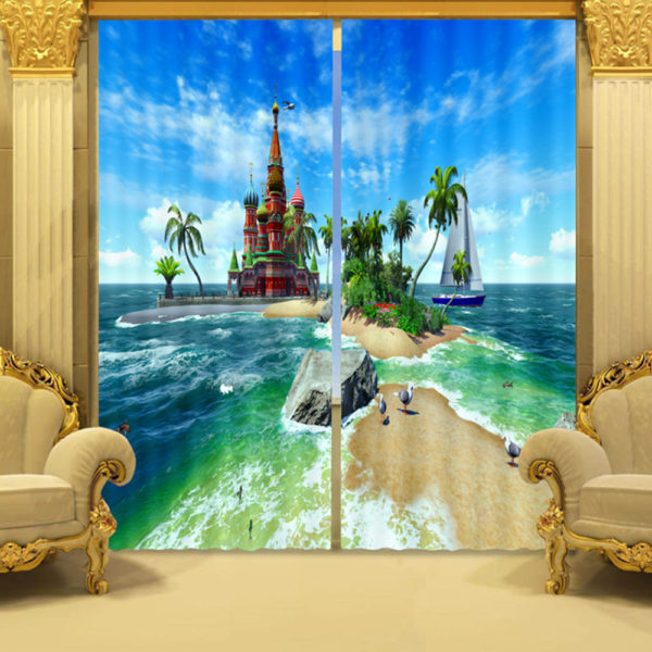 90 zpsamkvkc8o 600x600 - Picture Curtain Set With Island Design