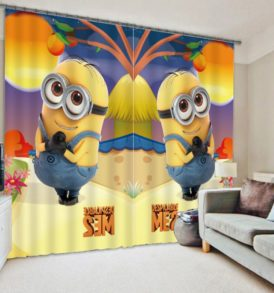 Fashionable Despicable ME2 Minion  Picture Curtain Set