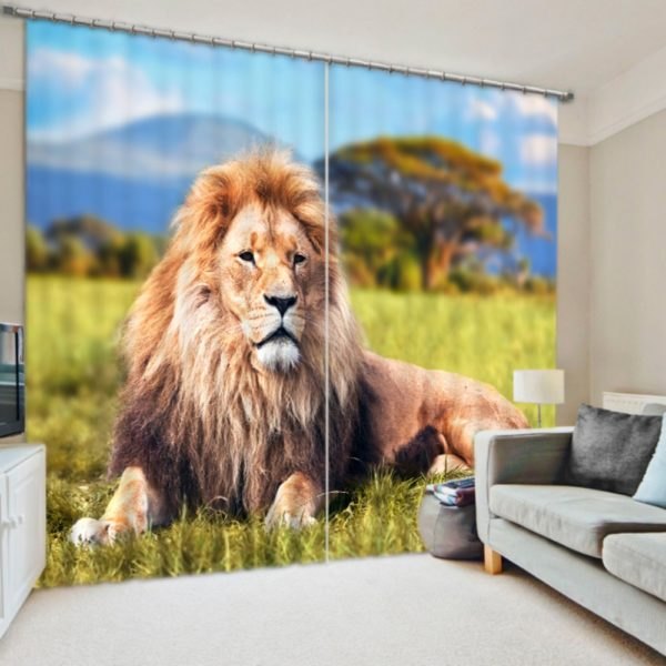 king Of The Jungle Curtain Set