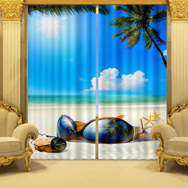 93 zps3rjleiph 600x600 - Sun, Sand And Sea Curtain Set