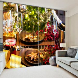 Mesmerizing Christmas Curtain Set