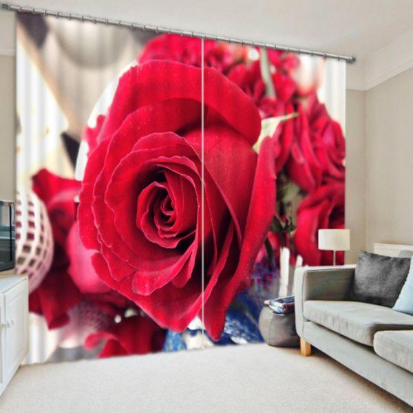 Urbane Rose Curtain Set