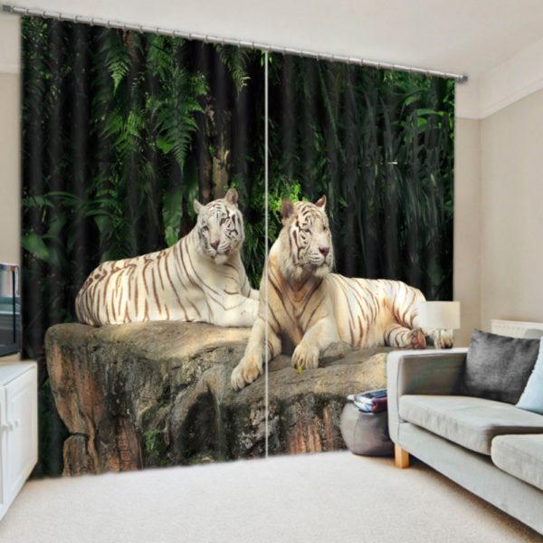 Alluring Royal Tiger Curtain Set