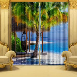95 zpsyd0euzaj 300x300 - Curtain Set With Beach Theme
