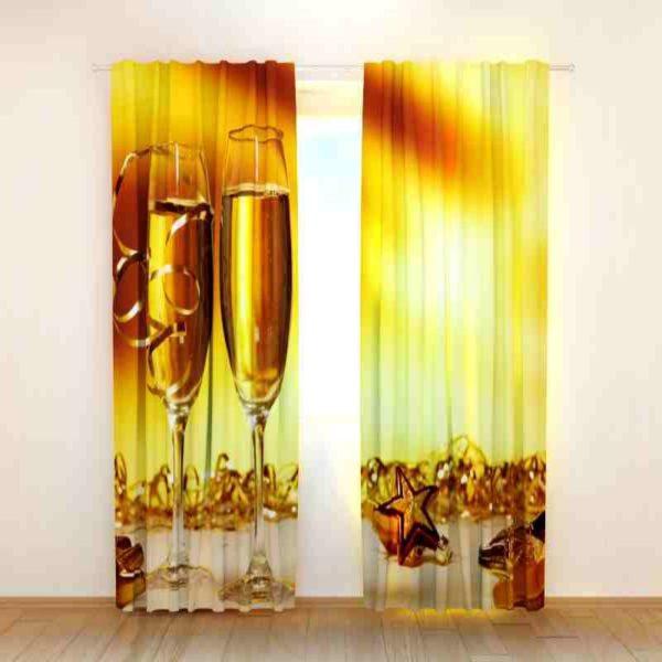 Brilliant Festive Themed Curtain Set