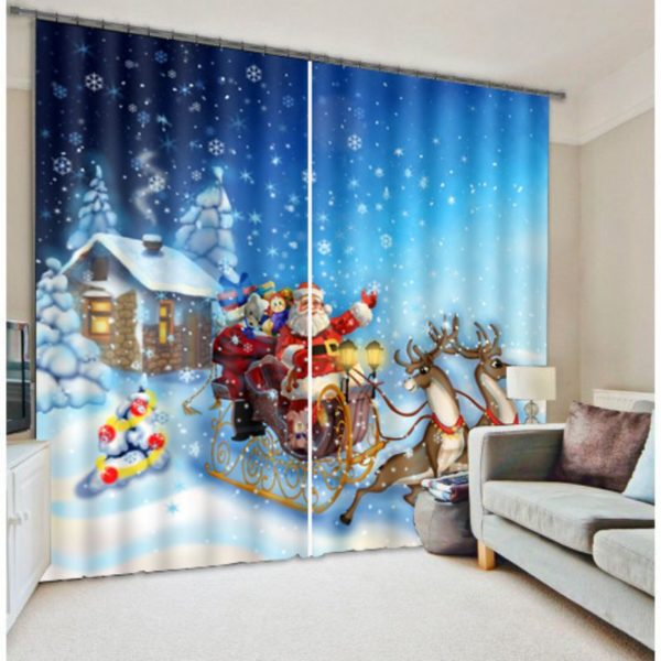 Cute Santa Clause Curtain Set