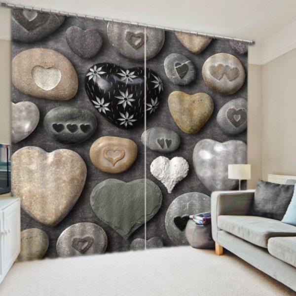 Elegant Love Themed Curtain Set