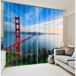 Grand  Curtain Set with Bridge Picture