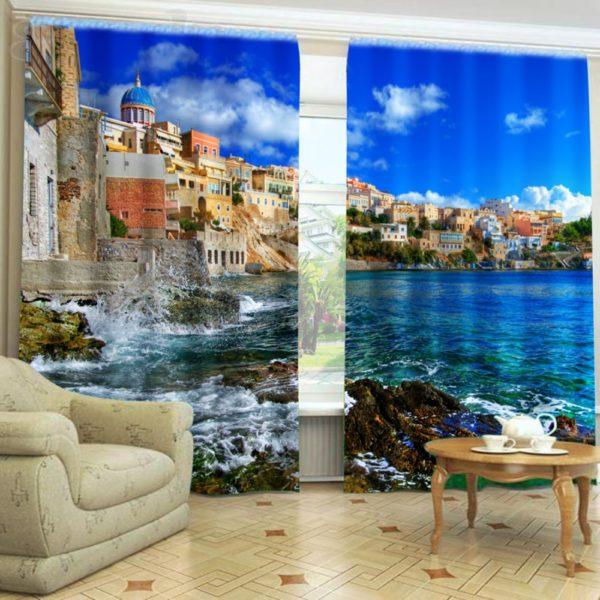98amazon zpsb0ndyray 600x600 - Curtain Set In Light Blue