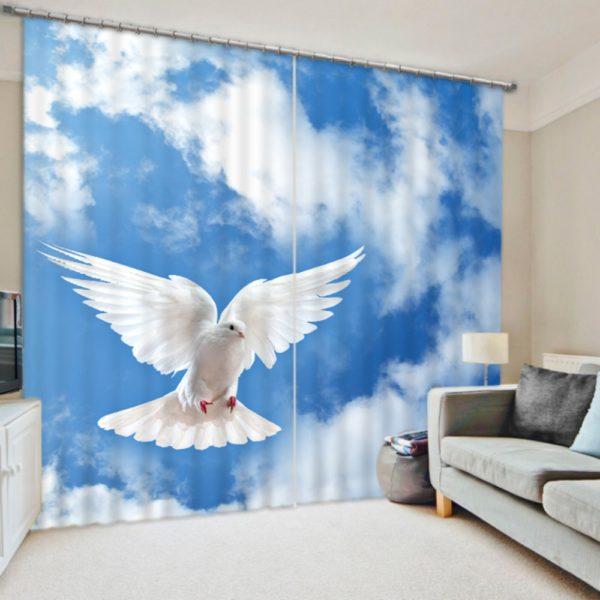 Cute Pigeon Curtain Set
